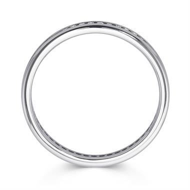 Platinum 0.25ct Full Diamond Channel Ring thumbnail