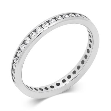 Platinum 0.50ct Full Diamond Channel Ring thumbnail