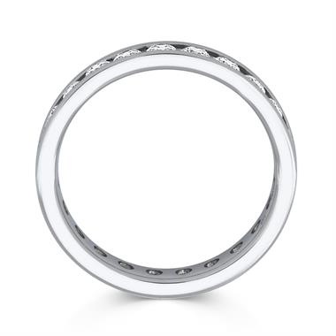 Platinum 1.00ct Full Diamond Channel Ring thumbnail