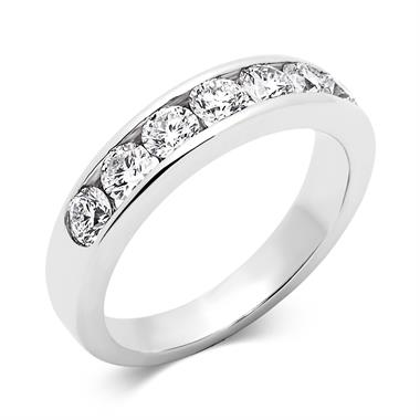 Platinum Diamond Half Eternity Ring 1.00ct thumbnail