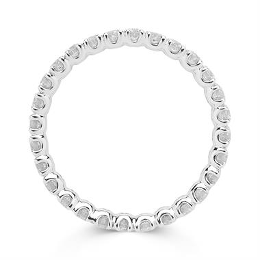 Platinum 0.80ct Diamond Full Eternity Ring thumbnail