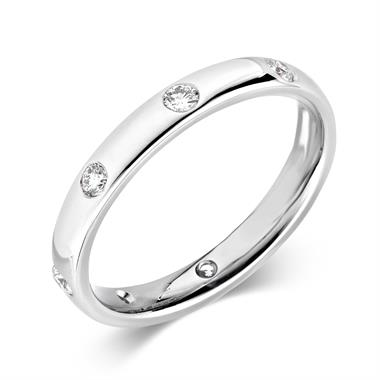 Platinum Rubover Eight Diamond Ring thumbnail