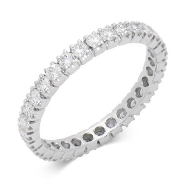 Platinum 0.70ct Full Claw Set Diamond Ring thumbnail