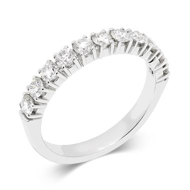 Platinum 0.70ct Diamond Half Eternity Ring thumbnail