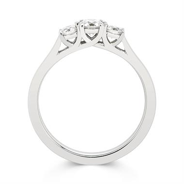 Platinum Diamond Three Stone Engagement Ring 0.60ct thumbnail