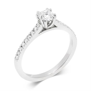 Platinum Cushion Cut 0.66ct Diamond Solitaire Ring thumbnail