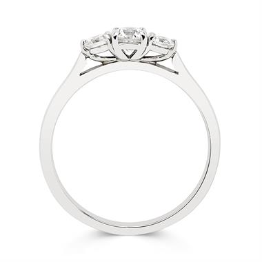 Platinum Diamond Three Stone Engagement Ring 0.50ct thumbnail