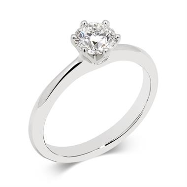 Platinum Six Claw 0.70ct Diamond Solitaire Ring thumbnail