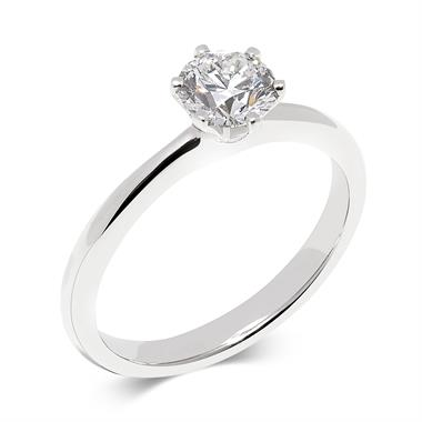Platinum Diamond Solitaire Engagement Ring 1.00ct thumbnail