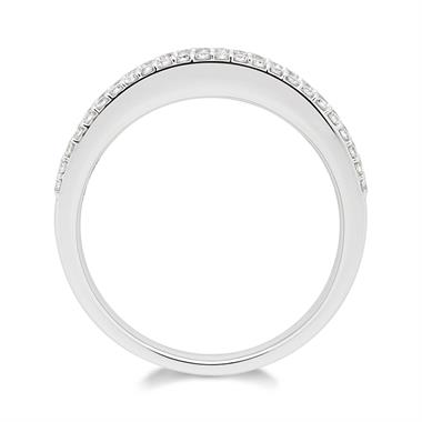 18ct White Gold Three Row Diamond Half Eternity Ring 1.20ct thumbnail