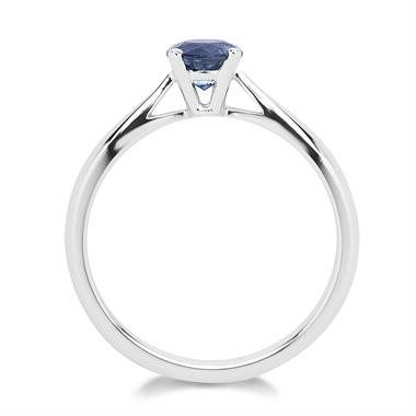 18ct White Gold Sapphire Solitaire Ring thumbnail