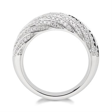 Aira 18ct White Gold Diamond Dress Ring 0.50ct thumbnail