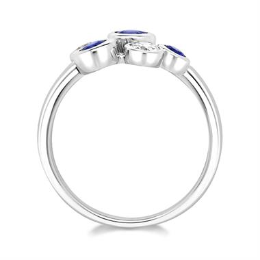 Alchemy 18ct White Gold Sapphire and Diamond Dress Ring (Large) thumbnail
