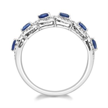 Oriana 18ct White Gold Sapphire and Diamond Ring thumbnail
