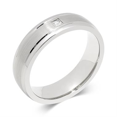 Palladium Rubover Diamond Ring thumbnail