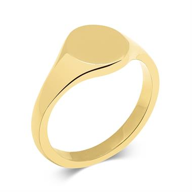18ct Yellow Gold Signet Ring thumbnail