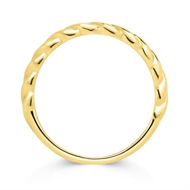 18ct Yellow Gold Twisted Stacking Ring thumbnail