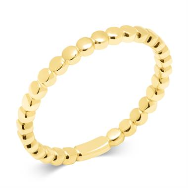18ct Yellow Gold Beaded Stacking Ring thumbnail