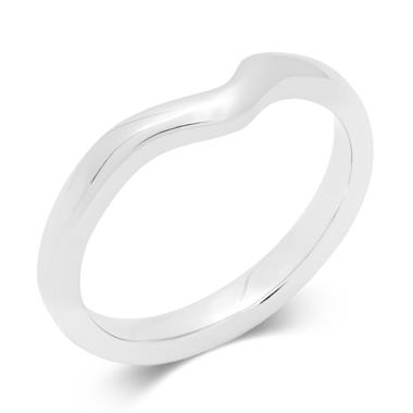 Platinum Classic Shaped Wedding Ring thumbnail