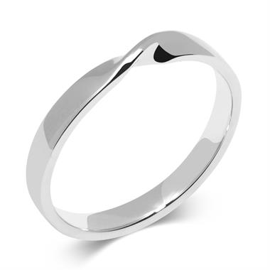 Platinum Twist Design Wedding Ring thumbnail