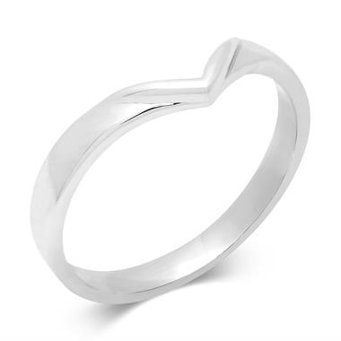 Platinum Wishbone Shaped Wedding Ring thumbnail