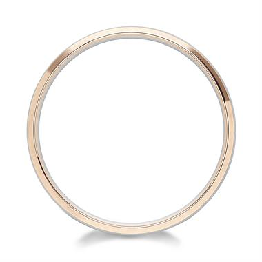Palladium and 18ct Rose Gold Bevelled Wedding Ring thumbnail