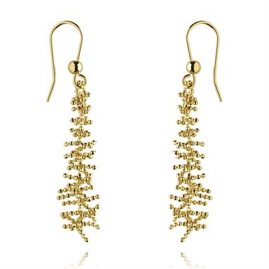 Willow 18ct Yellow Gold Drop Earrings thumbnail