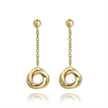 Eternal 18ct Yellow Gold Drop Earrings thumbnail