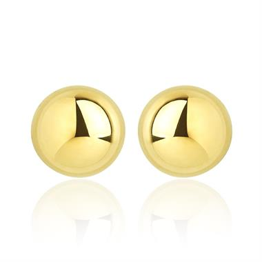 18ct Yellow Gold Extra Large Ball Stud Earrings thumbnail