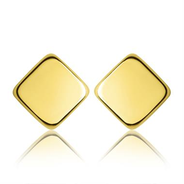 18ct Yellow Gold Square Stud Earrings thumbnail