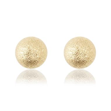 18ct Yellow Gold 5mm Sparkle Ball Stud Earrings thumbnail