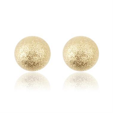 18ct Yellow Gold 5mm Shimmer Finish Ball Stud Earrings 6mm thumbnail