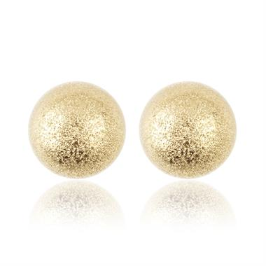 18ct Yellow Gold 7mm Sparkle Ball Stud Earrings thumbnail