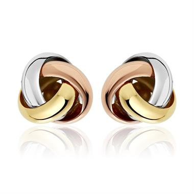 Echo 18ct Mixed Gold Stud Earrings thumbnail