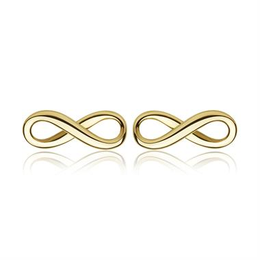 Infinity 18ct Yellow Gold Stud Earrings thumbnail