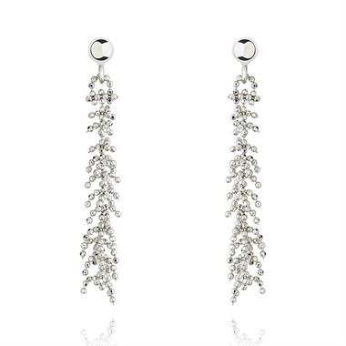 Willow 18ct White Gold Drop Earrings thumbnail