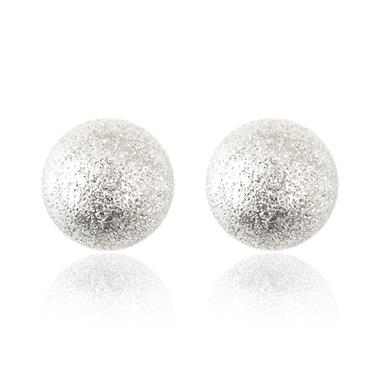 18ct White Gold 7mm Sparkle Ball Stud Earrings thumbnail