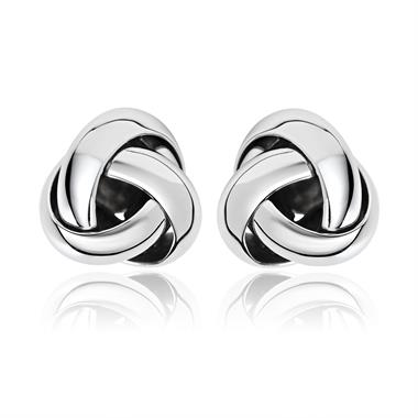 Echo 18ct White Gold Stud Earrings thumbnail