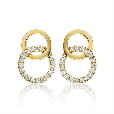 Union 18ct Yellow Gold Diamond Stud Earrings thumbnail
