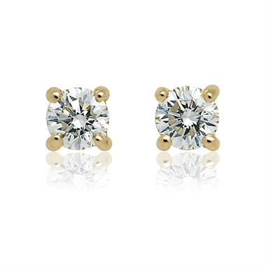 18ct Yellow Gold Classic 0.33ct Diamond Stud Earrings thumbnail