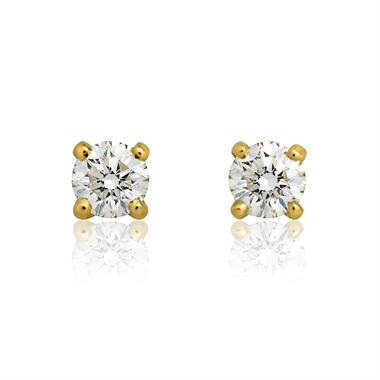 18ct Yellow Gold Classic 0.25ct Diamond Stud Earrings thumbnail