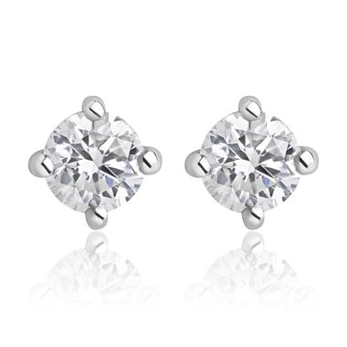 18ct White Gold Diamond Essentials Solitaire Stud Earrings thumbnail