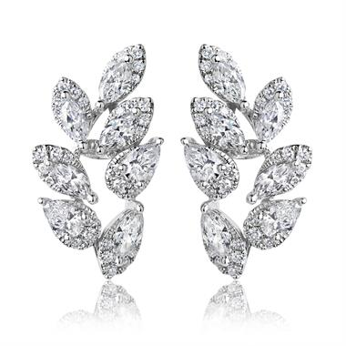 Eden 18ct White Gold 1.60ct Diamond Earrings thumbnail