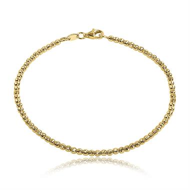 18ct Yellow Gold Diamond Cut Bracelet thumbnail