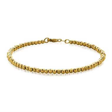 18ct Yellow Gold Large Diamond Cut Bracelet thumbnail
