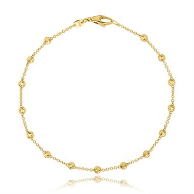18ct Yellow Gold Diamond Cut Chain Bracelet thumbnail