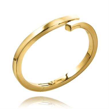 18ct Yellow Gold Modern Twist Bangle thumbnail