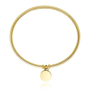 Harmony 18ct Yellow Gold Charm Bangle thumbnail