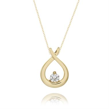 Keepsafe 18ct Yellow Gold Diamond Pendant thumbnail