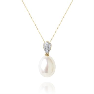 Clam 18ct Yellow Gold Pearl Pendant thumbnail